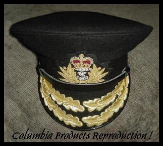 ROYAL NAVY ADMIRAL OFFICER BLACK HAT CAP NEW Size 59