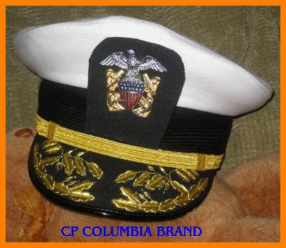 US NAVY COMMANDER ADMIRAL WHT HAT CAP NEW ALL Sizes