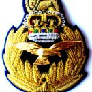 ROYAL AIR FORCE HAT CAP COMMODORE Bullion Badge QUEEN CROWN CP Hand Embroidered