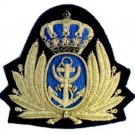 JORDAN NAVY OFFICER HAT CAP BADGE NEW HAND EMBROIDERED FREE SHIP IN USA CP MADE
