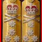 NEW UK ROYAL NAVY HARD SHOULDER BOARDS 4 STARS ADMIRAL RANK - Hi Quality CP Made