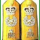 NEW UK ROYAL NAVY HARD Shoulder Boards FLEET ADMIRAL QUEEN CROWN - CP MADE