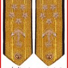 NEW US NAVY HARD Shoulder Boards ADMIRAL 5 Stars  Rank (CP MADE) High Quality