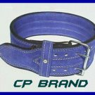 CP BRAND NEW POWER WEIGHT LIFTING BELTS BLUE HIGH QUALITY, ALL LEATHER FREE SHIP