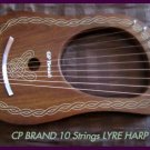 CP BRAND NEW 10 STRINGS LYRE HARP FREE CARRY BAG & SHIP USA - QUALITY MATTERS