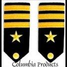 NEW US NAVY OFFICER HARD Shoulder Boards FOR COMMANDER Rank - CP MADE