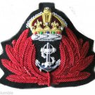 NEW ROYAL NAVY NURSE OFFICER HAT CAP Red Bullion Badge KING CROWN CP MADE