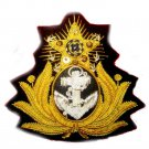 BRAZIL NAVY OFFICER HAT CAP BADGE NEW HAND EMBROIDERED FREE SHIP IN USA CP MADE