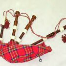 NEW IMPORTED FULL SIZE NATURAL ROSEWOOD BROWN SCOTTISH BAGPIPES SET NEW CP MADE