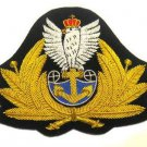 POLAND NAVY OFFICER HAT CAP BADGE NEW HAND EMBROIDERED CP MADE FREE SHIP USA
