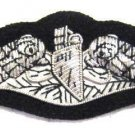 US NAVY SUBMARINE HAND EMBROIDERED NEW SILVER BULLION BADGE CP MADE Hi Quality