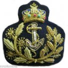BRUNEI NAVY OFFICER ADMIRAL HAT CAP BADGE NEW HAND EMBROIDERED CP MADE