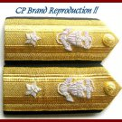 NEW US COAST GUARD Shoulder Boards REAR ADMIRAL 1 Star Pair - Hi Quality CP MADE