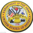 """DEPARTMENT OF ARMY HAND EMBROIDENEW GOLD BULLION BADGE CP MADE 4.5"""" Diameter"""