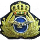 GREEK AIR FORCE PILOT HAT CAP BADGE NEW - HAND EMBROIDERED USA FREE SHIP CP MADE