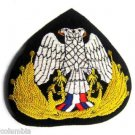 SERBIA NAVY OFFICER HAT CAP BADGE NEW HAND EMBROIDERED CP MADE FREE SHIP USA
