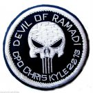 CHRIS KYLE - US NAVY SEAL HAT CAP BADGE SILVER NEW HAND EMBROIDERED CP MADE