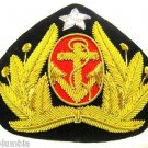 INDONESIA NAVY OFFICER HAT CAP BADGE NEW CP HAND MADE - FREE SHIP IN USA