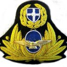 GREEK AIR FORCE PILOT CAP HAT BADGE NEW - HAND EMBROIDERED USA FREE SHIP CP MADE