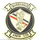 VIETNAM WAR US MARINE VMFA-115 SILVER EAGLES BADGE Hand Embroidered - CP MADE