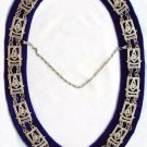 MASONIC REGALIA PAST MASTER NEW GOLD METAL CHAIN COLLAR BLACK VELVET CP MADE