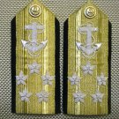 NEW US NAVY ADMIRAL 5 STARS HARD SHOULDER BOARDS RANK CP MADE AUTHENTIC QUALITY