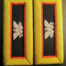 NEW US ARMY GENERAL ADJUTANT STRAPS SHOULDER BOARDS - GOLD BULLION WIRE CP MADE