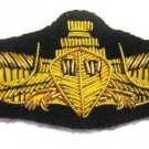 US SURFACE WARFARE NAVY OFFICERS HAND EMBROIDERED NEW GOLD BULLION BADGE CP MADE