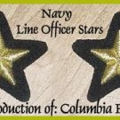US NAVY LINE OFFICERS UNIFORM SLEEVE STARS BRAND NEW PAIR - CP MADE - HI QUALITY