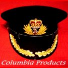ROYAL UK  NAVY OFFICERS BLACK HAT CAP CAPTAIN NEW ALL 57 TO 62 SIZES CP MADE