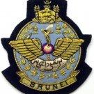 BRUNEI ROYAL AIR FORCE HAT CAP COMMODORE Bullion Badge - FREE SHIP IN USA