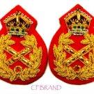 UK British Army Field Marshal General Uniform Rank Badge KING Crown Pair NEW