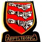 ARMSTRONG SCOTTISH CLAN BADGE NEW HAND EMBROIDERED CP MADE HI QUALITY FREE US SP