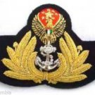 UNITED ARAB EMIRATES NAVY OFFICER HAT CAP BADGE NEW HAND EMBROIDERED CP MADE