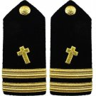 NEW US NAVY LIEUTENANT CHRISTIAN CHAPLAIN HARD SHOULDER BOARDS AUTHENTIC CP MADE