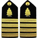 NEW US NAVY CAPTAIN RANK DENTAL CORP HARD SHOULDER BOARDS AUTHENTIC CP MADE