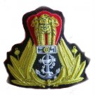 NEW INDIAN NAVY OFFICER HAT CAP BADGE HAND EMBROIDERED FREE SHIP IN USA CP MADE