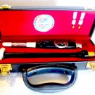 SCOTTISH BAGPIPE CHANTER African Black Wood With Hard Carry Case