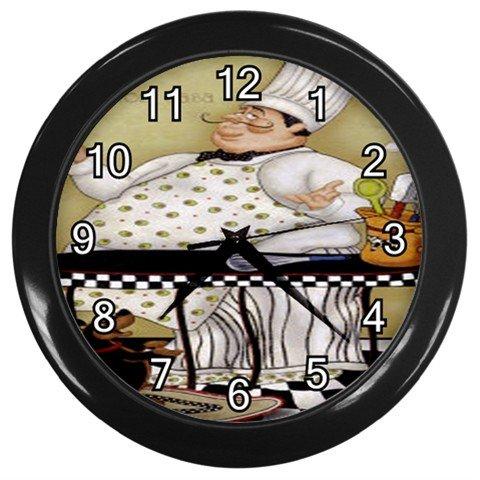 "Chef 10"" Wall Clock (Black)"