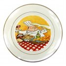 Italian Chef Porcelain Plate