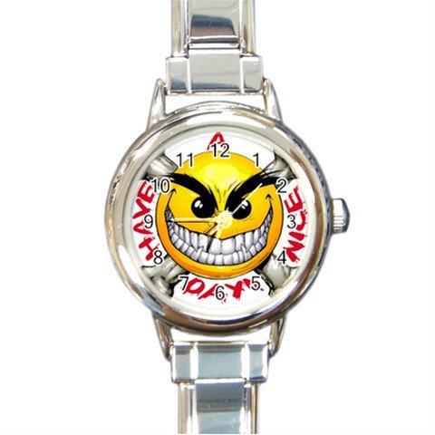 Have a Nice Day Round Italian Charm Watch