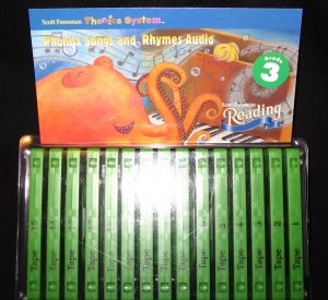 Scott Foresman Reading Grade 3 Phonics and Rhymes Audio Cassette Tapes Set of 15