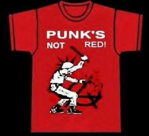 Punk's Not Red shirt