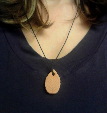 Terracotta Pendants LEAF Shape