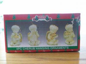 Porcelain Cherubs Ornaments 4pc.