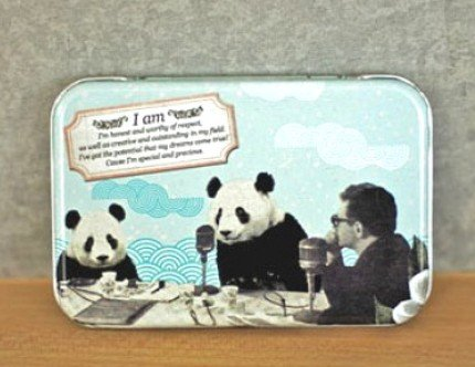 Surreal Style Interview With Panda Metal Box For Business Cards Name Cards Little Trinkets