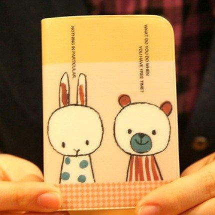Cute Shinzi Katoh Bear And Rabbit Talking Name Credit Card Case Holder