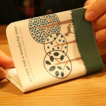 Cute Shinzi Katoh Trees And Donkey Wonderful Time Name Credit Card Case Holder