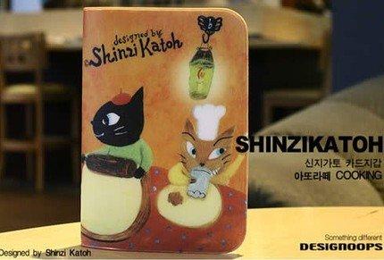 Cute Shinzi Katoh Cooking Cats Name Credit Card Case Holder