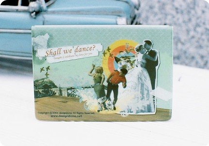 Fun Retro Style Doma Shall We Dance Name Credit Card Case Holder